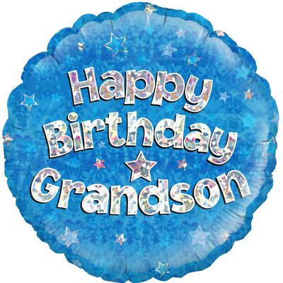 "Foil Balloon - 18"" - Birthday - Grandson"