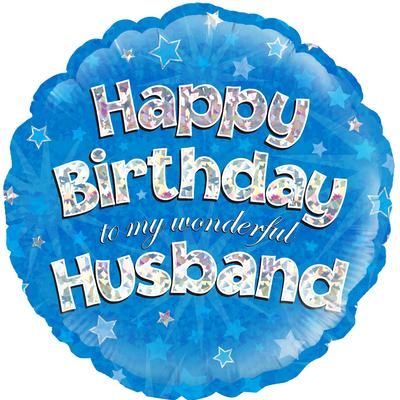 "Foil Balloon - 18"" - Birthday - Husband"
