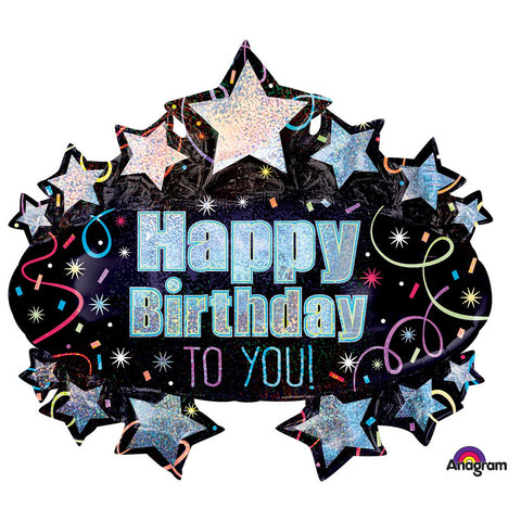 Foil Balloon - Supershape - Birthday