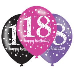 Latex Balloons - Birthday - Ages 18 - 100