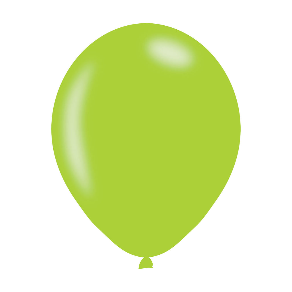 Latex Balloons - Metallic - Lime Green