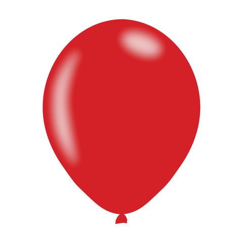Latex Balloons - Metallic - Red