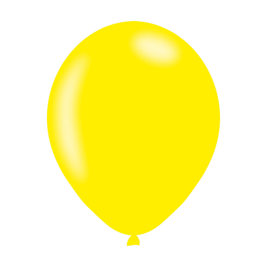 Latex Balloons - Metallic - Yellow