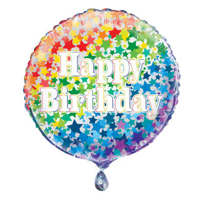 "Foil Balloon - 18"" - Happy Birthday"