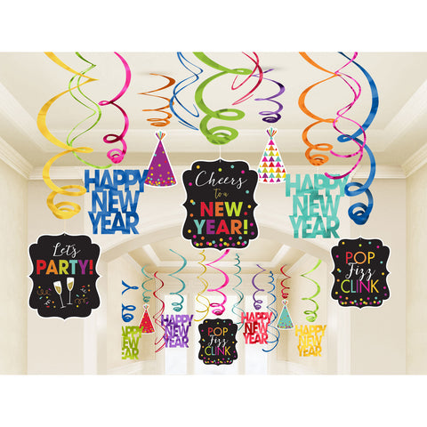 Swirl Decorations - New Year