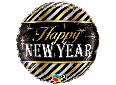 "Foil Balloon - 18"" - Happy New Year"