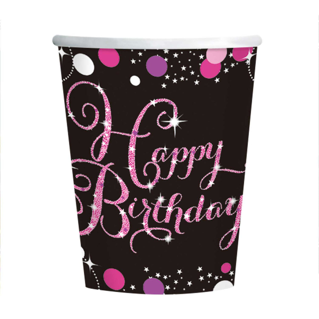 Cups - Birthday - Pink /Purple/Black