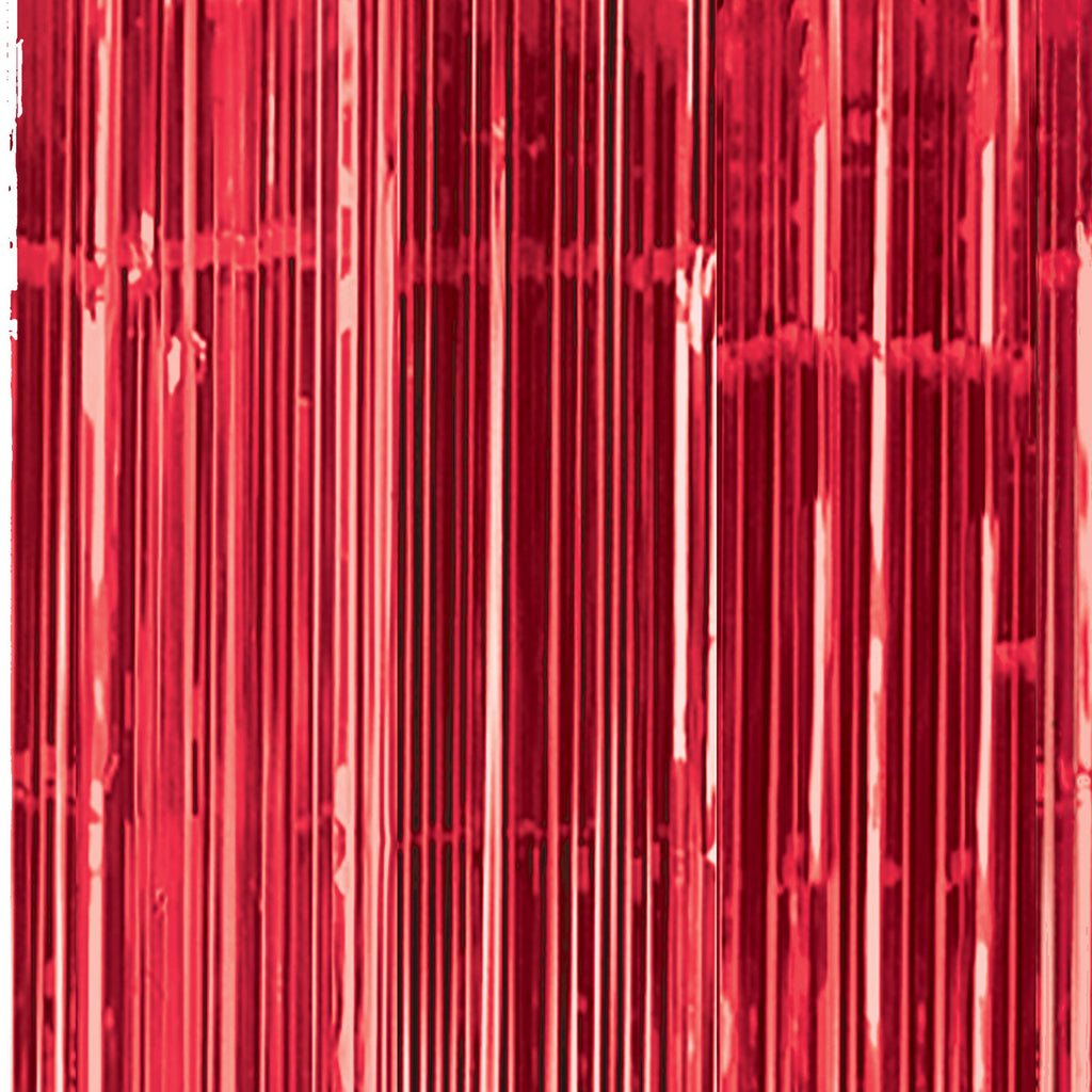 Door Curtain - Red Shimmer