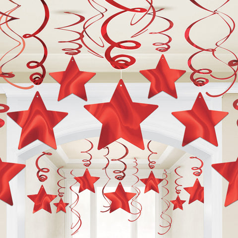 Swirl Decorations - Stars - Assorted Colours