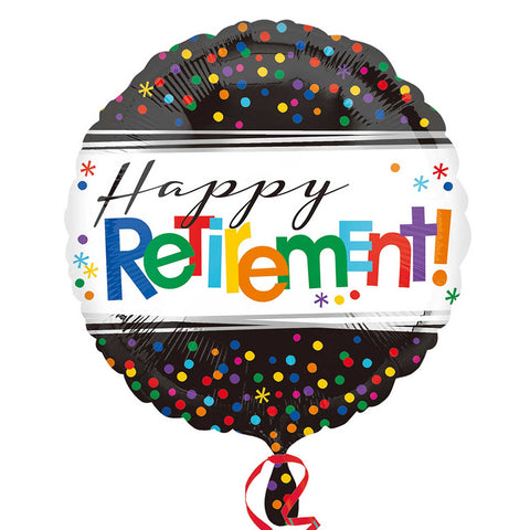 "Foil Balloon - 17"" - Happy Retirement"