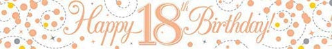 Banner - Birthday - Ages 16 - 80 - Rose Gold