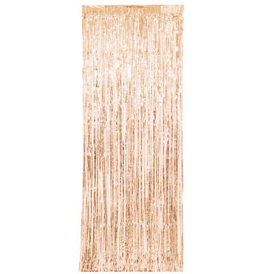 Door Curtain - Rose Gold Shimmer