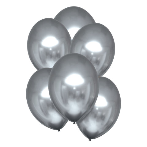 Latex Balloons - Satin Luxe - Silver