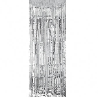 Door Curtain - Silver Shimmer