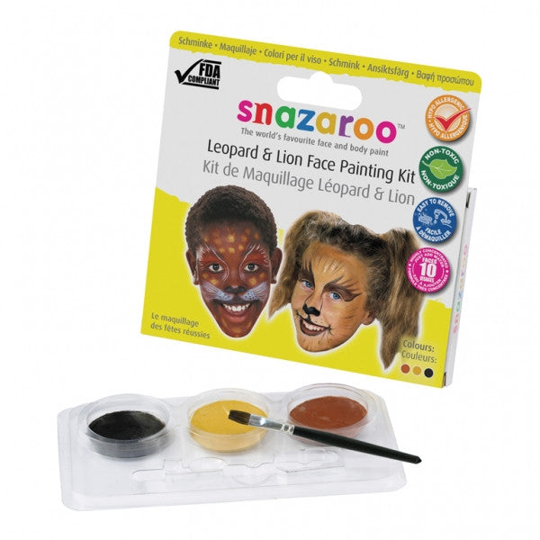 Snazaroo Theme Pack   Leopard & Lion