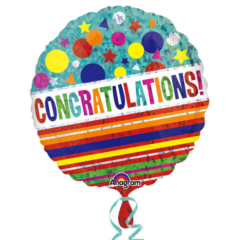 "Foil Balloon - 18"" - Congratulations"