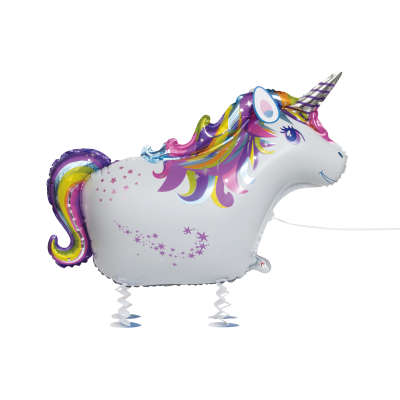 Foil Balloon - Walking Pet - Unicorn