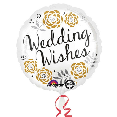 "Foil Balloon - 18"" - Wedding Wishes"