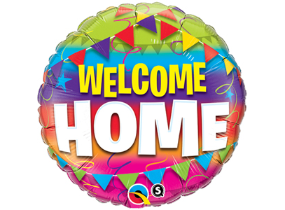 "Foil Balloon - 18"" - Welcome Home"