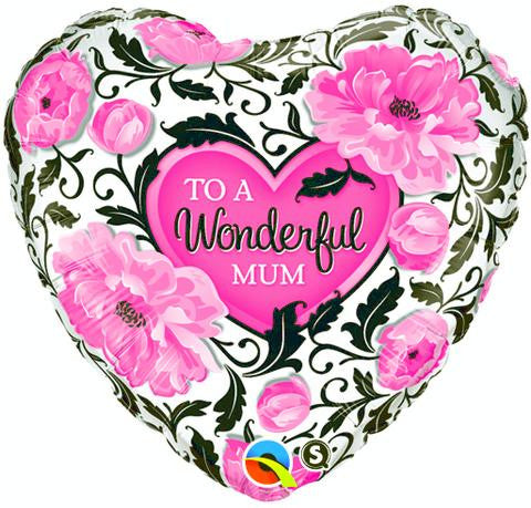 "Foil Balloon - 18"" - Wonderful Mum"