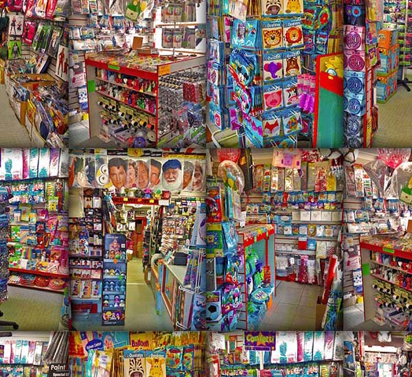 Inside The Party Box Shop Collage