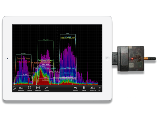WiPry-Pro Transform iPhone, iPad, iPod into a 2.4 GHz Spectrum Analyzer
