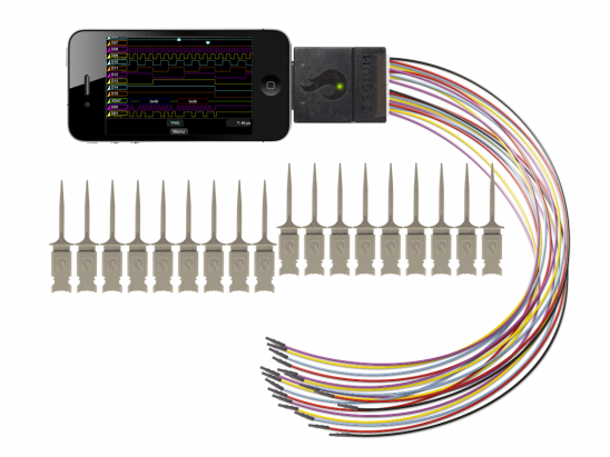 LogiScope transforms your iPhone, iPad, iPod into 16 channel logic analyzer