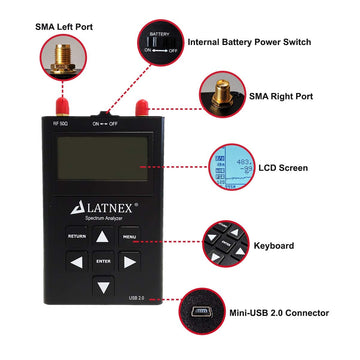LATNEX® Spectrum Analyzer SPA-6G (15-2700 MHz and 4850-6100MHz)