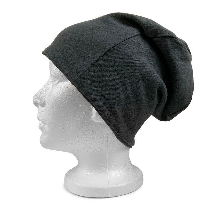 EMF 5G Radiation Protection Beanie - Anthracite - Side View