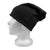 EMF 5G Radiation Protection Beanie - Black - Side View