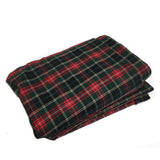 WOREMOR Tartan Pattern Earthing Blanket With Grounding Kit - green tartan