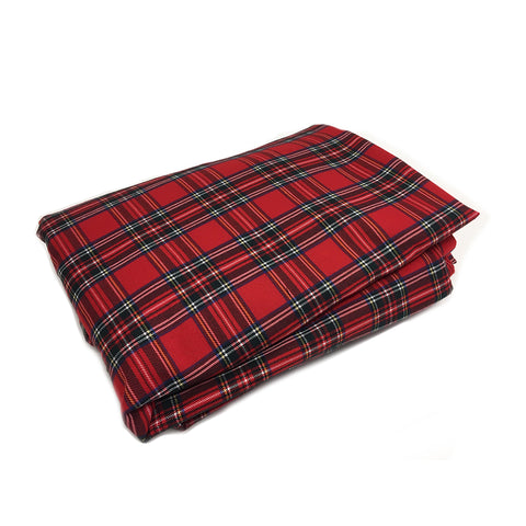 WOREMOR Tartan Pattern EMF Protection Blanket For HF & LF With Grounding Kit - red