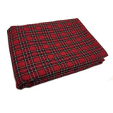 WOREMOR Tartan Pattern Earthing Blanket With Grounding Kit - red tartan