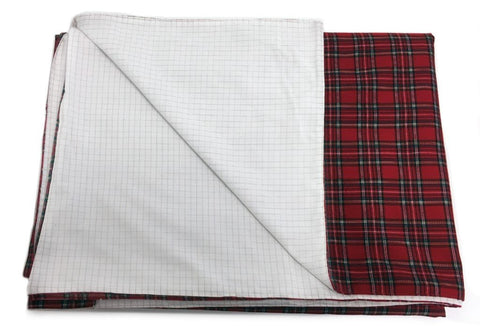 WOREMOR Tartan Pattern Earthing Blanket With Grounding Kit