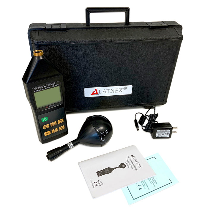 LATNEX® HF-B8G Professional High Frequency and RF Meter with Case