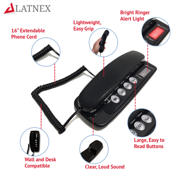 LATNEX® Low-EMF Corded Telephone LAT-P20