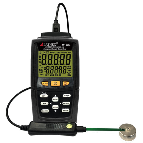 LATNEX MF-30K AC/DC Electromagnetic Permanent Magnets Gauss Meter