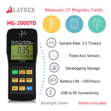 LATNEX® MG-2000TD: Triple Axis Pro EMF Meter with Datalogger