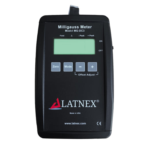 LATNEX® DC Milligauss Meter Model MG-DC3