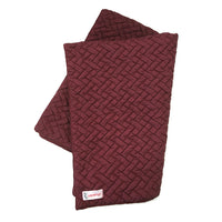 WOREMOR EMF Protection Quilted Lap Blanket - Burgundy