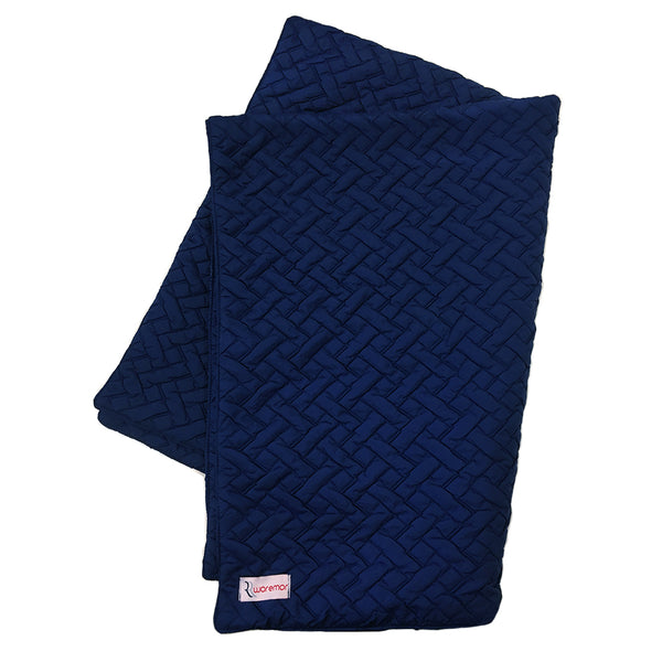 WOREMOR EMF Protection Quilted Lap Blanket - Navy