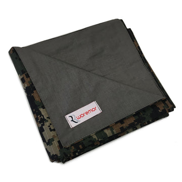 WOREMOR EMF Protection Lap Blanket STEEL-GRAY