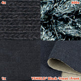EMF shielding fabric BLACK-TRICOT - Front