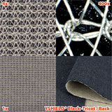 EMF shielding fabric BLACK-TRICOT - Back