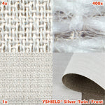 HF+LF - Silver Twin Shielding Fabric/Front