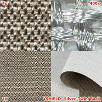 HF+LF - Silver Twin Shielding Fabric/Back