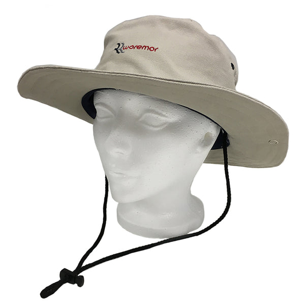 Woremor EMF Protection Bush Hat Beige with Logo