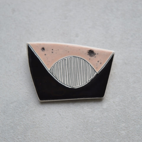 Geometric brooch, statement jewellery