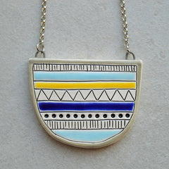 Halfcircle necklace - Geometric