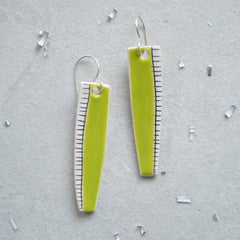 Lime green drop earrings